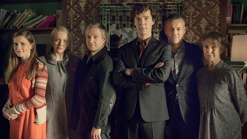 the cast of Sherlock season 3 now on Netflix