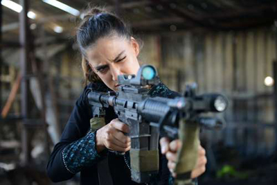Rona-Lee Shimon in the Fauda TV series